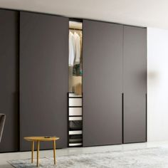 Awesome interior sliding doors design ideas for every home 14 45 Awesome Interior Slid Hinged Wardrobe Doors, Sliding Door Wardrobe Designs, Sliding Door Design, Wardrobe Design Bedroom, Sliding Glass Door, Sliding Doors, Sliding Wall, Closet Doors, Entry Doors
