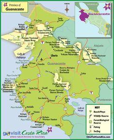 Guanacaste Region Map