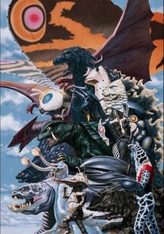 Kaiju - Godzilla, Mothra, Gyaos, Gamera, (Ultraman Kaiju) Red King, Zetton, Balton Sejijn, Dada, Eleking, Kanegon, (Powered) Kemular, Takkong, Alien Godola Kemurloid (not sure about the last 2)