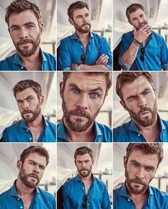 The many faces of Chris Hemsworth