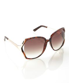 9f1827c5d5 This Jessica Simpson Collection Tortoise Retro Sunglasses by Jessica  Simpson Collection is perfect!  zulilyfinds