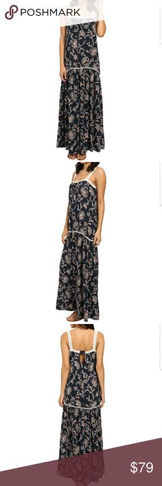 CANDICE FLORAL MAXI DRESS WITH LACE CANDICE FLORAL MAXI DRESS WITH LACE  BEAUTIFUL BOTANICAL PRINT WITH NECK LACE TRIM. KEYHOLE FEATURED IN THE BACK WITH PIN TUCK CROSS STRAP. 100% RAYON MATERIALS  🌹BRAND NEW WITH TAGS - NEVER WORN 🌹HIGHEST QUALITY PRODUCTS 🌹OFFERS ACCEPTED THROUGH THE OFFER BUTTON ONLY 🌹NO HOLDS/NO TRADES 🌹BUNDLE & SAVE  PLEASE FOLLOW CLOSET RULES AND BE RESPECTFUL THIS IS A BUSINESS THANK YOU! Dresses Maxi