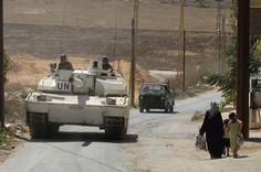 Char LECLERC patrouillant au sud Liban. © armée de Terre
