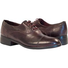 PAOLO IANTORNO Melissa Dip Dyed Liver Leather Oxford Lace Up Shoes (€305) ❤ liked on Polyvore featuring shoes, oxfords, liver, dip dyed shoes, leather lace up shoes, real leather shoes, leather shoes and dip dye shoes