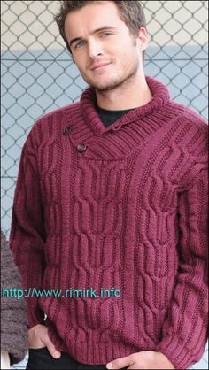Not sure where to locate the pattern but a great collar design Sweater Knitting Patterns, Knitting Designs, Sweater Shirt, Men Sweater, Mens Fashion Quotes, Winter Typ, Knitwear Fashion, Inspiration Mode, Sharp Dressed Man