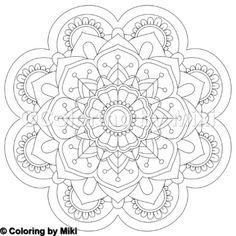 Flower Mandala Coloring Page #55