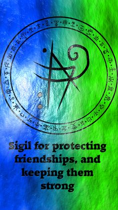 Sigil for protecting friendships, and keeping them strong requested by Wiccan Symbols, Magic Symbols, Spiritual Symbols, Symbols And Meanings, Viking Symbols, Egyptian Symbols, Viking Runes, Ancient Symbols, Magick Spells