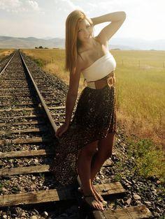 Railroad tracks senior picture  Senior picture ideas