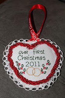cross stitch ornament tutorial