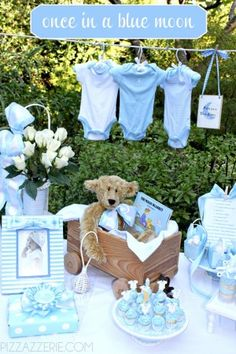 Boy Baby Shower Once in a Blue Moon