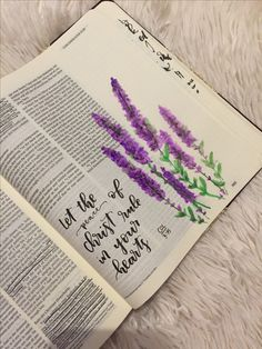 i need to find a lavender watercolor tutorial! ♡ Emmy Kate on pinny, Ich muss ein Lavendel Aquarell Tutorial finden! Art Journaling, Bible Journaling For Beginners, Bible Study Journal, Bible Drawing, Bible Doodling, Scripture Art, Bible Art, Bible Prayers, Bible Scriptures
