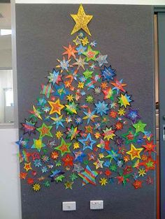 Maro's kindergarten: Stars for on tree to be decorated by all the kids