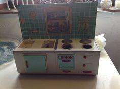 *alte Puppenküche*50er*60er*Blech*Puppenstube*Shabby*Blechspielzeug*