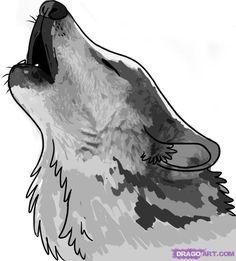 wolf howling drawing - Hľadať Googlom