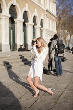 all white and great shoes