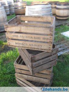 Bloembakken met Appelkratten fruitbakken appelbakken houten kisten - Te koop | 2dehands.be