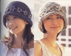 Gray Cloche with Flower free crochet graph pattern
