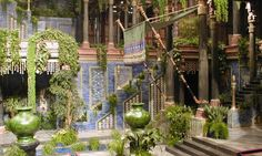 interior set of the Palace of Nebuchadnezzar in Babylon, from the film Alexander…