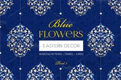 Blue Flowers by O'Gold! on @creativemarket
