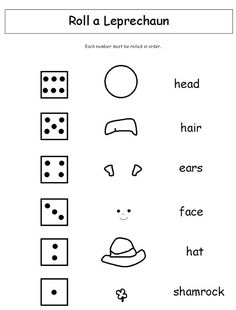 Roll a Leprechaun   -  Pinned by @PediaStaff – Please Visit ht.ly/63sNt for all our pediatric therapy pins