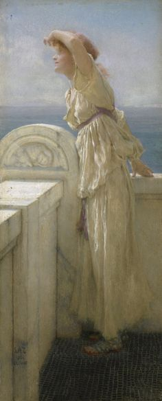 "Lawrence Alma-Tadema painted Hopeful in 1909 ""for Queen Alexandra, wife of the British King Edward VII.""  A Dash of Art History"