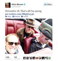 Nerd Worlds Collide! Alton Brown & The Mythbusters via alton brown | Tumblr