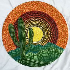 (Art inspired by the work of artist Elspeth MClean). # cactus The Effective Pictures We Offer You About Cactus png A quality picture can tell you many thin. Dot Art Painting, Mandala Painting, Stone Painting, Aboriginal Dot Painting, Rock Painting Ideas Easy, Rock Painting Designs, Vinyl Record Art, Vinyl Art, Cactus Art