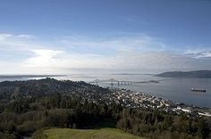 Astoria and the Mouth of the Columbia River as Seen From the Astoria Column