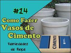 Como Fazer um Lindo Vaso de Cimento - Passo a Passo Fácil (começo meio e fim) - YouTube Cement Design, Cement Art, Hydroponic Strawberries, Model Tree, Diy Fountain, Concrete Projects, Concrete Planters, Cold Porcelain, Art Of Living