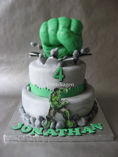 Professional Incredible Hulk Fist Cake 480px cakes Pinterest