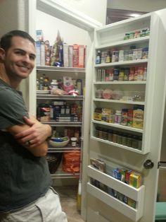 Storage in pantry door!     http://luckysneakers.files.wordpress.com/2013/02/20130206_204936.jpg