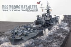 Chris Flodberg shares his latest large-scale rendition of the popular USS North Carolina with us!  This is the 1/350 Trumpeter USS North Carolina.