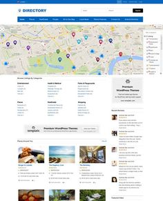 BUSINESS DIRECTORY FOR MF - LIKE THE MAP AND LISTINGS TOGETHER Directory WordPress Theme from Templatic