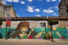 DERRUBANDO MUROS CON PINTURA #streetart #muralart #illustration #graffiti #derrubandomurosconpintura #nana #nanakonene