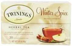 Amazon.com : Twinings Herbal Tea, Winter Spice, 20 Count : $4.34 http://www.amazon.com/gp/product/B004OINZZQ/ref=as_li_qf_sp_asin_il_tl?ie=UTF8&camp=1789&creative=9325&creativeASIN=B004OINZZQ&linkCode=as2&tag=softantibacte-20&linkId=JQ7UPYU2IR4V6572