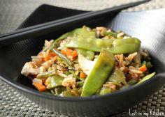 Lost in my Kitchen: Wok rapide de légumes verts au poulet