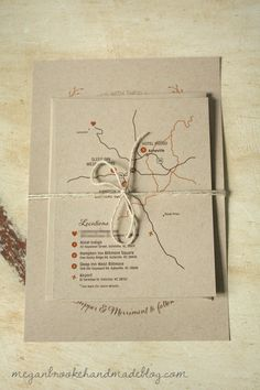 Possible packaging with twine?  DIY Rustic Wedding Invitations
