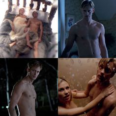 Alexander Skarsgard Shirtless Photos From True Blood Season 4 — Eric Northman Flashback!