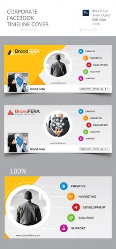 Corporate Facebook Timeline Cover  — PSD Template • Only available here ➝…