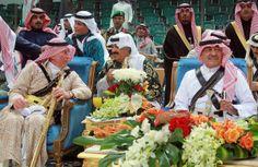 Prince Muqrin, Prince Mutaib&Prince Charles in #Janadriya festival in Riyadh