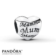 Pandora Charm Mothers Heart  Sterling Silver