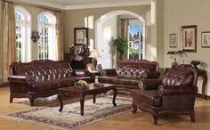 A5945 Birminghan Top Grain Leather Sofa + Loveseat