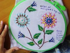 Hand Embroidery Designs # 128 - Chemanthy Flower (variation) - YouTube