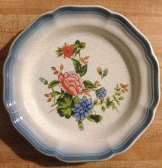 Vintage Mikasa Country Club Sweet Promise Stoneware Floral Salad Plate  #Mikasa