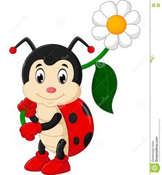 Find Ladybug Cartoon stock images in HD and millions of other royalty-free stock photos, illustrations and vectors in the Shutterstock collection. Thousands of new, high-quality pictures added every day. Cartoon Images, Cartoon Drawings, Animal Drawings, Cartoon Art, Happy Cartoon, Art Drawings For Kids, Drawing For Kids, Cute Drawings, Ladybug Cartoon
