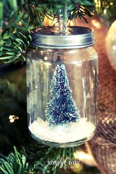 Mason jars are too large to dangle from a pine branch, but baby food jars are the perfect size for a decorative terrarium. Get the tutorial at Simply Ciani »  - GoodHousekeeping.com