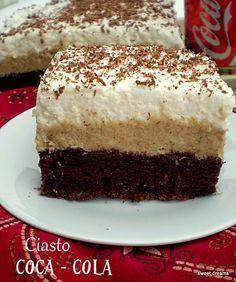 Ciasto Coca - Cola Coca Cola Cake, Polish Recipes, Polish Food, Homemade Cakes, No Bake Desserts, Tray Bakes, Cake Cookies, Vanilla Cake, Coco