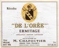 2011 M. Chapoutier Ermitage de l'Oree Blanc, Rhone, France  [Avg. score 95, Avg. price £104]
