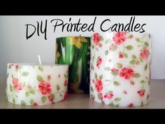 DIY tutorial: Decorate candles with paper napkins / Decorar velas con servilletas de papel - YouTube