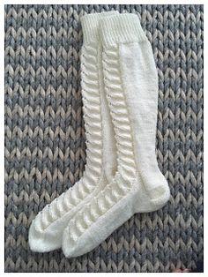 Langoista rakkaudella: Pitkät piirakkasukat Marimekko, Socks, Fashion, Moda, Fashion Styles, Sock, Stockings, Fashion Illustrations, Ankle Socks
